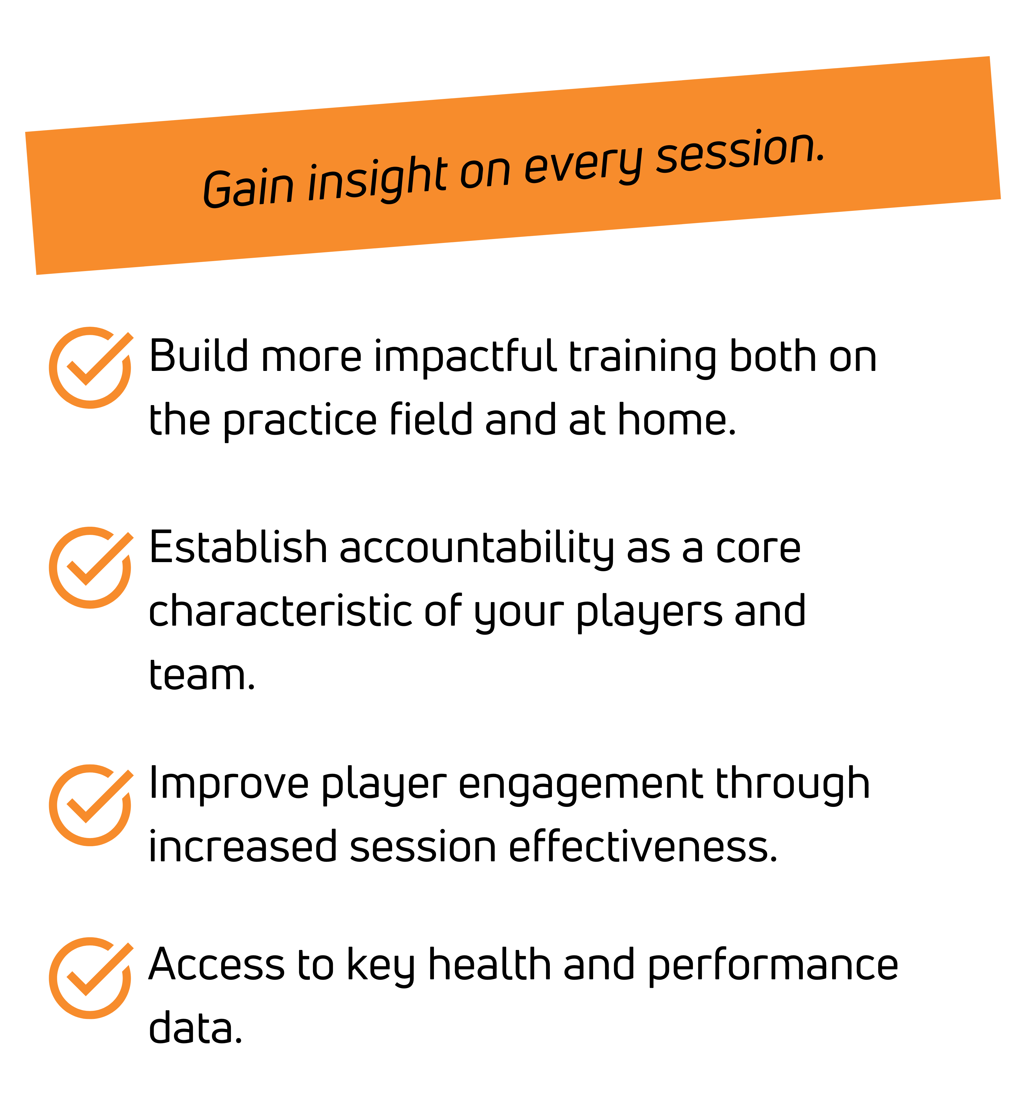 Build more impactful training both on the practice field and at home.